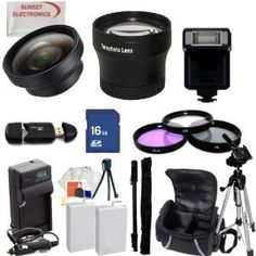 Huge Ultimate Accessory Kit for the Canon T3i & T2i Digital Slr Camera.the Kit Includes Lenses, Filters, 8gb Sd Card, 2 Extended Life Batteries , Carrying Case, Tripod, Flash Plus Much More!! These Lenses and Filters Will Attach to Any of the Following Canon Lenses 18-55mm, 75-300mm, 50mm 1.4 , 55-200mm. by Digital. $87.99. This Kit Includes:  1- 8GB SD MEMORY CARD  1- USB SD/HC Memory Card Reader 2- 2 Rechargeable Lithium Ion Replacement Extended Life Batteries 1...