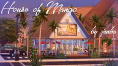 House of MangoWe have a lot of these types of places all over the States - old fast food restaurants from the that have been repurposed into new restaurants, usually serving some kind of. Sims 4 Restaurant, Fast Food Restaurant, Outdoor Retreat, Outdoor Decor, The Sims 4 Lots, Fast Food Places, Sims 4 Build, Sims 4 Houses, Electronic Art