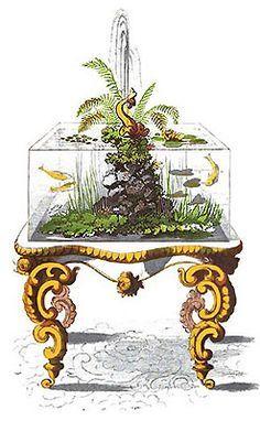Idea, Aquarium Victorian, Aquarium Wil, Fish Tanks, Terrarium Aquarium Vivarium, Aquaria Aquascaping, Wardian Cases, Victorian Terrarium, Aquarium ...