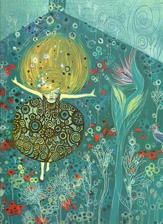 David Sala - reminds me of Gustav Klimt Traditional Paintings, Contemporary Paintings, Illustrations, Illustration Art, Magic Realism, Whimsical Art, Comic Artist, Art Plastique, Furano