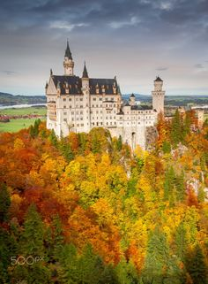 The Neuschwanstein Castle is one of the most visited castles  in Germany