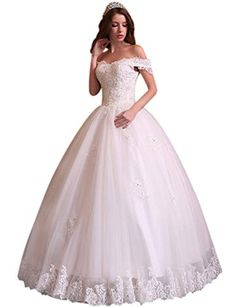 899a2aad677 Best Seller Andybridal 2018 Ball Gown Sexy Off Shoulder Appliques Bead Lace  Wedding Dress online
