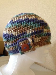 Beanie with buttons