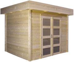 Tuinhuisje / blokhut  model Koekoek met afmetingen 300 x 200 cm van Woodvision Built In Storage, Garage Doors, Shed, Outdoor Structures, Building, Outdoor Decor, Room, Storage Ideas, Furniture
