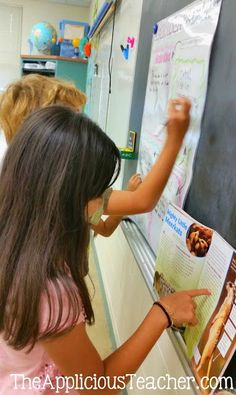 """Put an interactive anchor chart in your small group centers! Kids will love being """"the teacher"""" and you'll love the structure, engagement, and learning they provide!"""