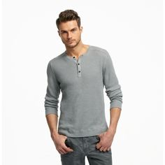 New York Ribbed Henley Sweater from Kenneth Cole
