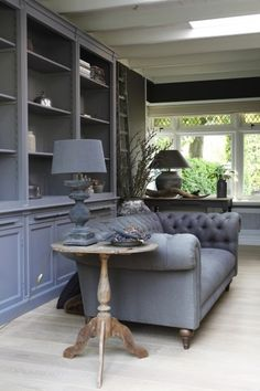 Modern Country Style: Belgian Style Interiors: Living Rooms Click through for details. Country Interior, Gray Interior, Home Interior, Living Room Interior, Country Decor, Living Room Decor, Interior Design, Living Rooms, Family Rooms