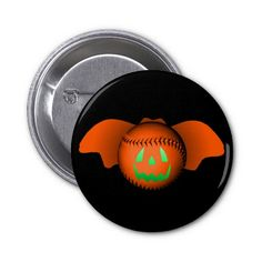 Halloween Baseball Bat Pin