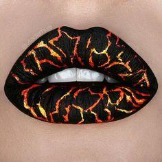 Black lipstick with lava squares! - Black lipstick with lava squares! Lipstick Art, Black Lipstick, Lip Art, Lipsticks, Milani Lipstick, Crazy Lipstick, Liquid Lipstick, Lipstick Brands, Lipstick Designs