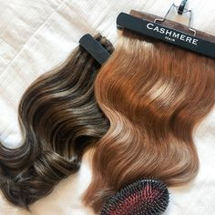 Have you tried Cashmere Hair Extensions' Seamless Clip In Extensions yet? 💕💕⠀⠀⠀⠀⠀⠀⠀⠀⠀⠀⠀⠀⠀⠀⠀⠀⠀⠀⠀⠀⠀⠀⠀ From left to right: 16 Seamless Clip In Extensions in Bombshell Brunette, 16 Seamless Extensions in Hollywood Bronzed Brunette, and the Cashmere Brush 💫 #cashmerehair #cashmerehairextensions #clipinextensions #seamlessclipinextensions Seamless Extensions, Clip In Hair Extensions, Shark Tank Tv Show, Cashmere Hair Extensions, Hollywood, Beauty, Beauty Illustration
