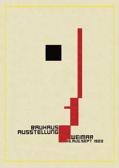 Exhibition Bauhaus Weimar Icon Germany Vintage Advertising Canvas Art Print