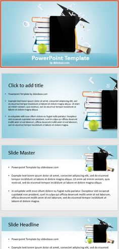 Congratulations and celebrations a powerpoint template with a prezi powerpoint presentation template featuring a stack of books a black ipad tablet computer apple toneelgroepblik Image collections