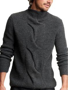 Вязание спицами мужские свитера на русском языке.
