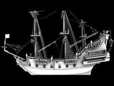 Queen Anne's Revenge Pirate ship - High Quality - YouTube