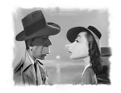 bogart caricatures | Humphrey Bogart and Lauren Bacall