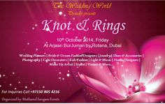 Knot & Rings ..Exhibition in October ...book your space now to receive a discount ...or be our partner...call us or write to us!!