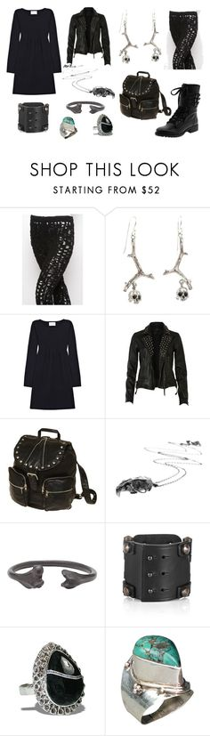 """Bury Her"" by pennydreadful27 ❤ liked on Polyvore featuring Kelsi Dagger Brooklyn, Erro, Noemi Klein, Crumpet, AllSaints, Gentle Fawn Clothing, Emilie Morris, Natalia Brili, Lanvin and studs"