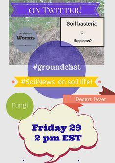 Explore the latest on soil organisms on #SoilNews #groundchat! Join us Fri, Aug 29 at 2 pm EST.