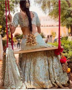 Top 15 Designer Bridal Blouse Designs To Help You Slay The Look Indian Wedding Gowns, Indian Bridal Outfits, Desi Wedding, Indian Designer Outfits, Wedding Dresses, Indian Wedding Clothes, Boho Wedding, Wedding Hijab, Punjabi Wedding