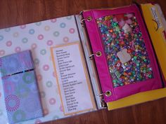 Binder for Kids for whenever they need to occupy themselves. Church, car, waiting rooms, etc. AWSOME ideas. I like all of them. A must do!!!