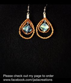 Cedar rope double teardrop earrings with abalone. Size small. $35.  Cedar weaving. Handwoven from red cedar. Made by Jaimie Davis, a Gitxsan/Nisga'a artist of Northwest BC. PayPal accepted. Email jadacreations1120@gmail.com and for more info. Follow me on Instagram @jadacreations !!! LIKE me on facebook www.facebook.com/jadacreations