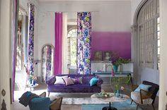 Decoração de casas: tecidos, almofadas e papel de parede