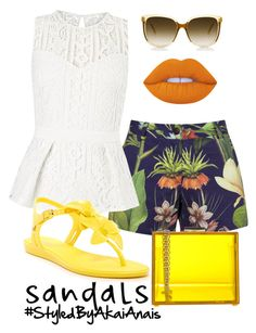 """""""Untitled #1295"""" by akai-couture on Polyvore featuring Penfield, Lipsy, Melissa, Oui, Odile! and Lime Crime"""