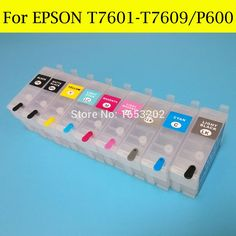 43.77$  Buy now - http://aliqi3.shopchina.info/go.php?t=32456770166 - 9 Color P600 Ink Cartridge T7601-T7609/T760 With ARC Chip For Epson Surecolor P600 SC-P600 Printer  #magazineonlinewebsite