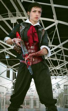 Gender Swapped BioShock Booker DeWitt Cosplay