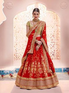 red dulhan lehenga  BRIDAL RED COLOR DESIGNER LEHENGA CHOLI FOR WEDDINGS
