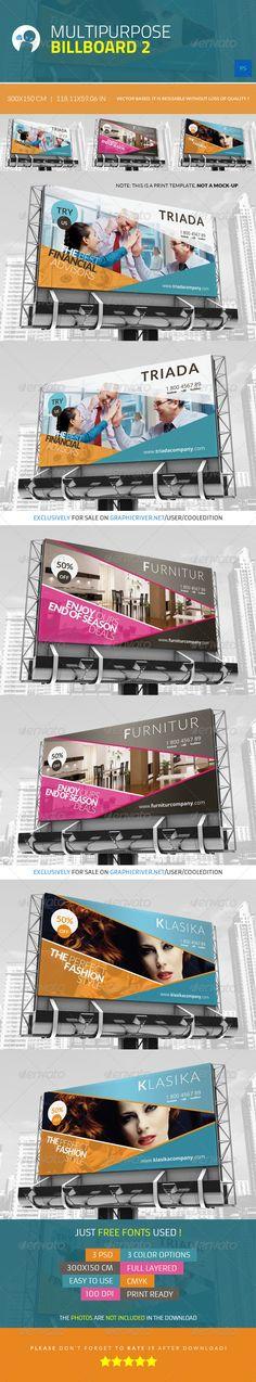 Multipurpose Billboard Template #design Download: http://graphicriver.net/item/multipurpose-billboard-2/4337425?ref=ksioks