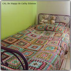 Crochet blanket pour le Cal Be Happy,  dernier rendez vous!!!!