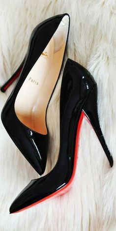 some red soles to start your week off right: christian louboutin 'so kate' in black patent. #shoeporn #louboutins