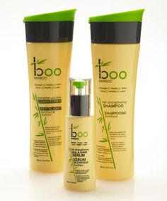 Take a look at this Strengthening Shampoo & Serum Set by Boo Bamboo on #zulily today!