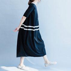 women loose dress/women cotton dress/women long by babyangella