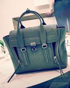 3.1 Phillip Lim Pashli Medium Zip Satchel Bag in military green