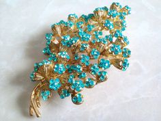 Reserved RHINESTONE CORSAGE BROOCH-Beautiful Floral by Jewel2Jewel
