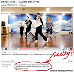 I saw this & I was disoriented at first. The past few hours I spent time viewing Rino Nakasone's crew dance. She was SHINee's choreographer for Replay, also a few other songs. Mentally I was still thinking about her performance. It only took seconds for me to recognize Taemin's body, I look closer bam there's Key with his hair tied up! I'm like these are our boys! Lol, the soul who wrote that comment must have terrible vision, far worse then my astigmatism. Man they need to get that…