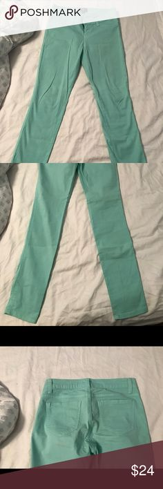 Bright turquoise jeans These jeans run super small. I am typically a 27 or a 4 and these fit me. Love Culture Pants Skinny