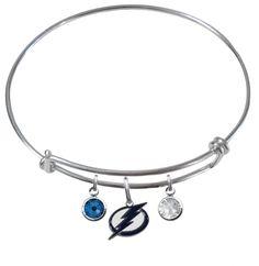 Tampa Bay Lightning NHL Expandable Wire Bangle Charm Bracelet – SportsJewelryProShop
