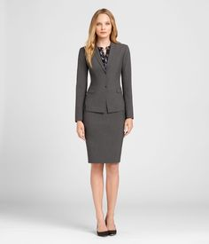 SEASONLESS WOOL SKIRT SUIT