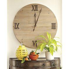Elliston Wall Clock by Ballard Designs Interior Design Inspiration, Home Decor Inspiration, Design Ideas, Home Decor Furniture, Home Furnishings, Moving Walls, Diy Vintage, Candle Wall Sconces, Ballard Designs