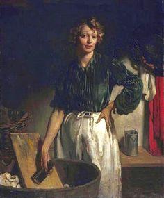 William Orpen (Irish Painter, 1878-1931)  Lottie of Paradise Walk