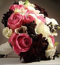 Color Schemes for Fall Weddings? (And Dont Say Orange! LOL!) :  wedding colors fall Black Possible Bouquet Change Black Dahlias  Amp  Fuchsia