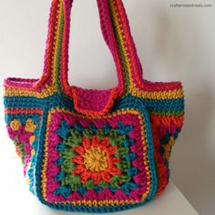 Crochet festival bag - crafternoontreats.com - free tutorial and pattern available