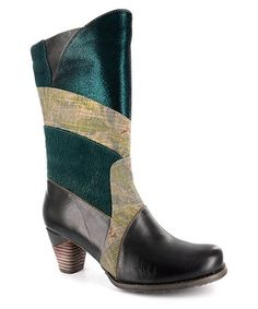 Blue Twilight Hand-Painted Leather Boot #zulily #zulilyfinds