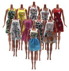 0e4cf44e4 Hot Vender Um Conjunto   6 Pcs Misturar Tipos 2016 Mais Novo Bela Artesanal  Roupas de festa Vestido de Moda Para Boneca Barbie Melhor Presente  Brinquedos WY ...