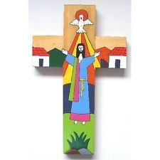 Cross made from wood. Cross Hands, Christ Is Risen, The Cross Of Christ, Wood Crosses, Holy Cross, 40th Birthday Gifts, Religious Gifts, Cross Paintings, Polymer Clay Art