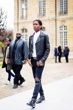 A$ap Rocky, street style. ///