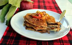 Apple spice protein pancakes (grain-, dairy-, and nut-free)